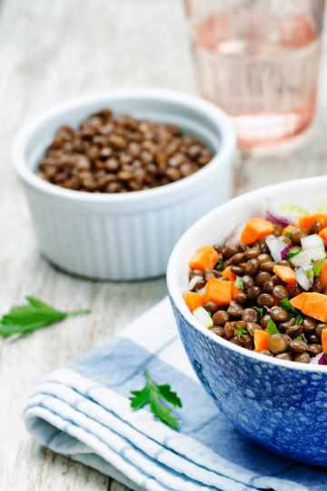 lentils salad easy quick recipe