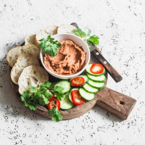 Spicy Greek Traditional Eggplant Dip recipe