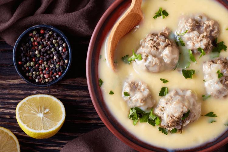 meatball soup avgolemono recipe